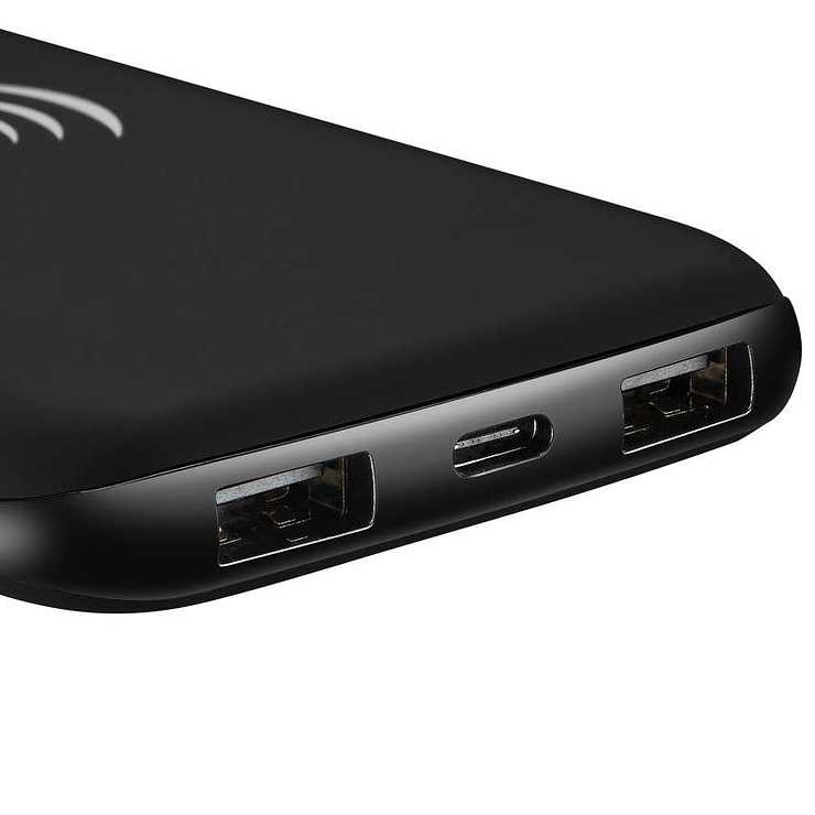 BATTERIE 8000MAH INDUCTION + MICRO USB /TYPE C NOIR 11299scrc8a1f7bc068aa8b