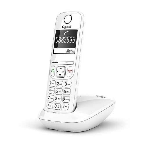 TELEPHONE AS690 SOLO SANS FIL BLANC as690whitetrnumbers2