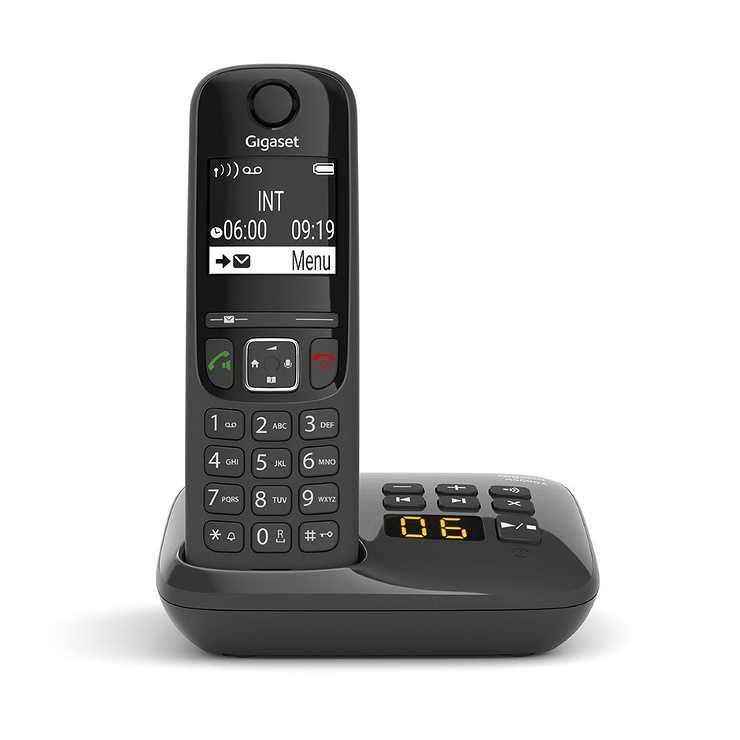 TELEPHONE AS690A SOLO REPONDEUR SANS FIL NOIR 0