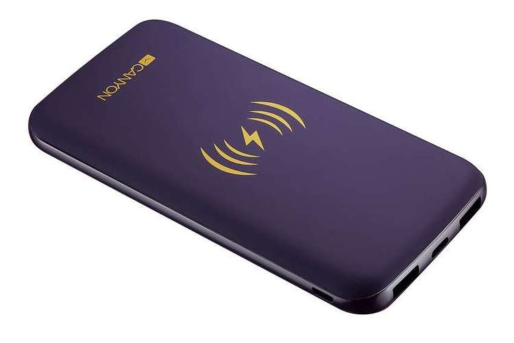 LOT DE 10 BATTERIES 8000MAH INDUCTION + MICRO USB /TYPE C VIOLET 11301scrc44dd36940eb2b4