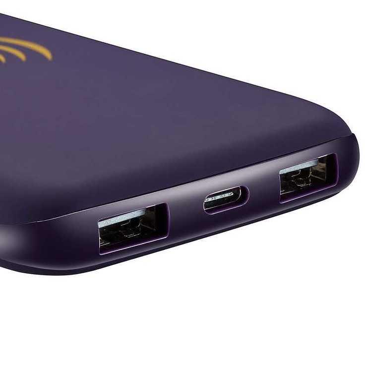 LOT DE 10 BATTERIES 8000MAH INDUCTION + MICRO USB /TYPE C VIOLET 11294scrfb654edd5ed3c99