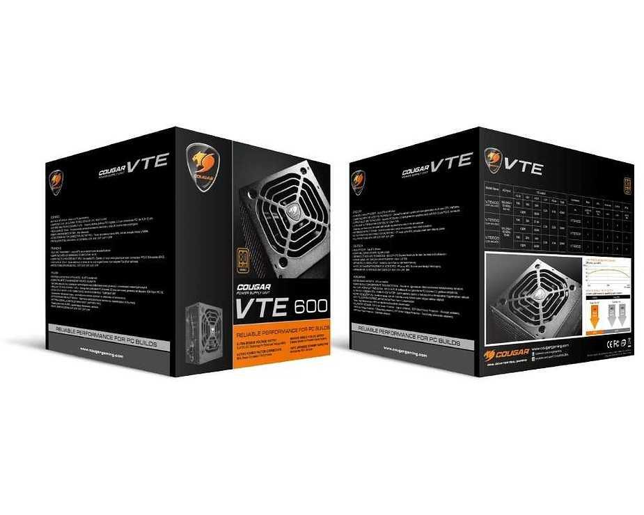 LOT DE 2 ALIMENTATIONS PC GAMING VTE600 80 PLUS BRONZE 600 WATTS vte5008
