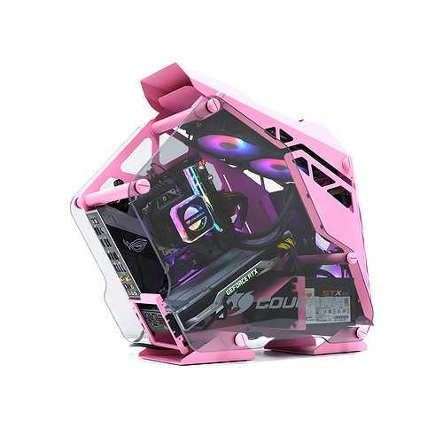 BOITIER PC GAMING CONQUER MINI PINK ALUMINIUM pinkweb3