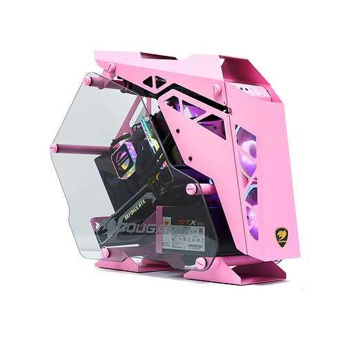 BOITIER PC GAMING CONQUER MINI PINK ALUMINIUM 0