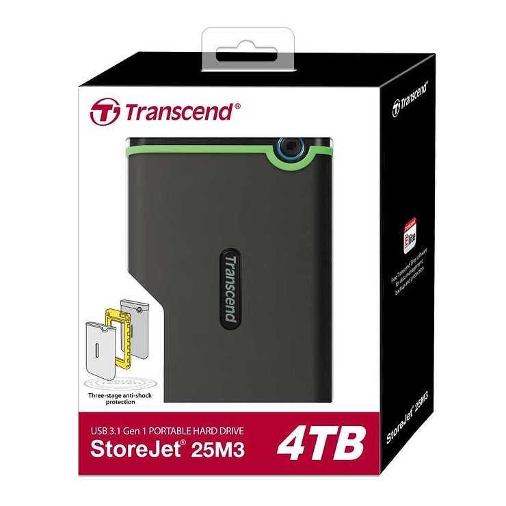 """HDD EXTERNE 2.5"""" 4TO SATA USB 3.0 ANTICHOC SLIM ts4tsj25m3cwebfinal2"""