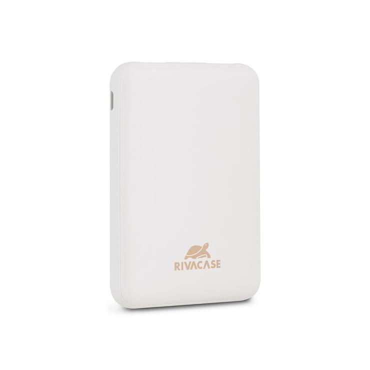 CHARGEUR RIVAPOWER 10000 MAH 2.1A MICRO USB+ TYPE C BLANC 0