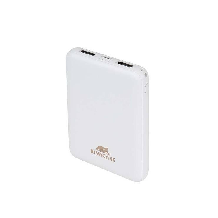 POWERBANK RIVAPOWER 5000 MAH 2.1A MICRO USB+ TYPE C BLANC va2405white.42604035763664260403576373.ver03