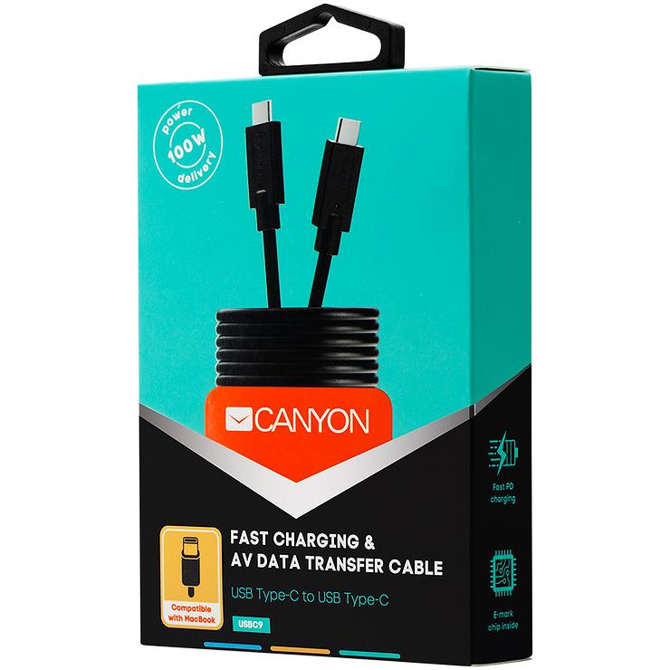 CORDON USB TYPE C 1 M NOIR CHARGE RAPIDE cns-usbc91