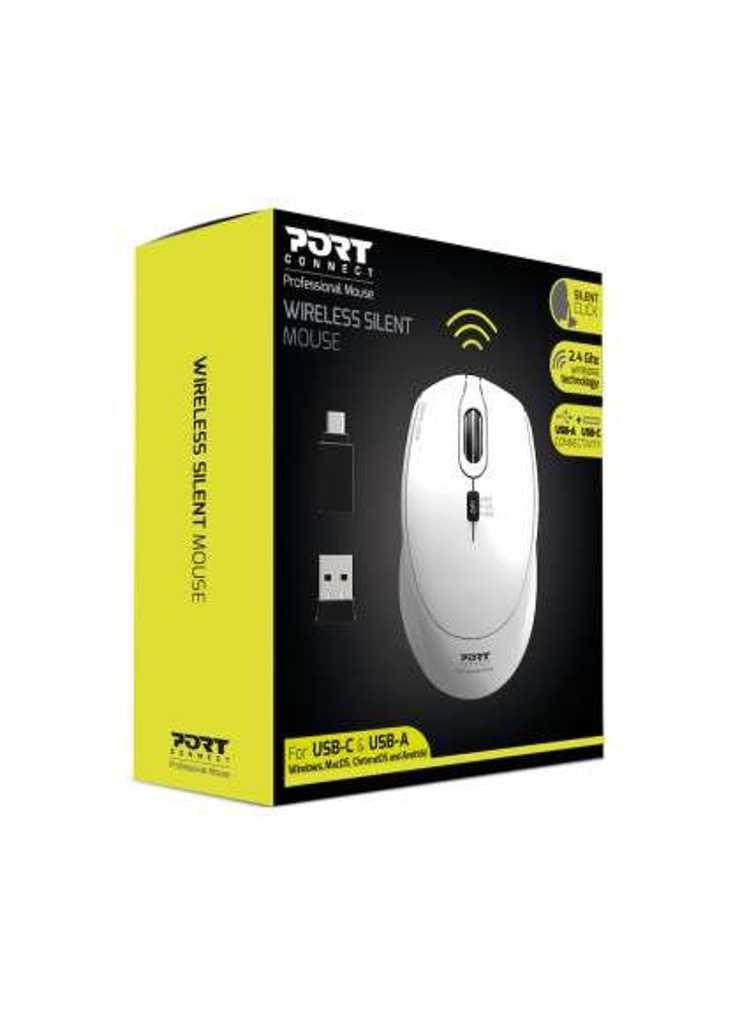 SOURIS SANS FIL SILENCIEUSE USB + TYPE C - BLANC 9007142