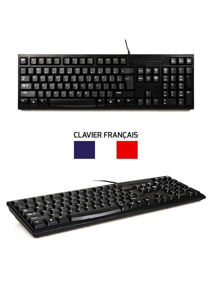 CLAVIER + SOURIS FILAIRE USB NOIR 9009004