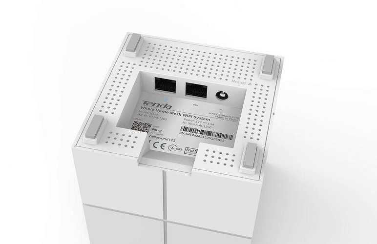 LOT DE 2 SYSTEMES WIFI MESH DE DOMICILE Pour 550 m² max BI-BANDES AVEC 3 BLOCS nova1