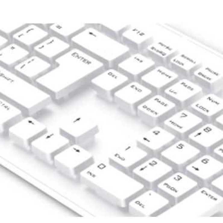 CLAVIER SLIMSTAR 130 FILAIRE PLAT USB BLANC PC 31300726107-3