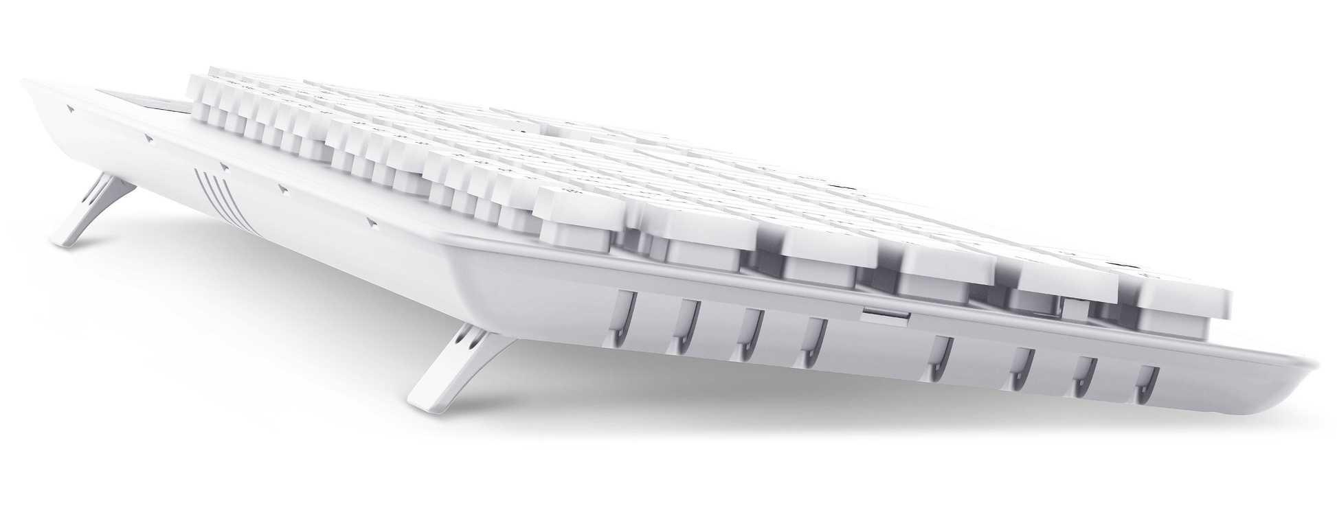 CLAVIER SLIMSTAR 130 FILAIRE PLAT USB BLANC PC slimstar130white-3