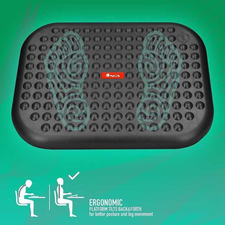 SUPPORT ERGONOMIQUE FOOT NEST REPOSE PIED AJUSTABLE ngsfootnestofficerelax02e