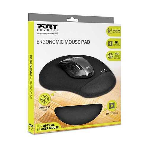 TAPIS SOURIS ERGONOMIQUE NOIR 900717-port-mousepad-pack3d
