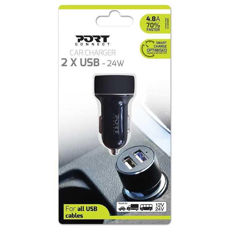 CHARGEUR VOITURE PORT 2 X USB 3.4A NOIR 900080-carcharger2usb-frontpack