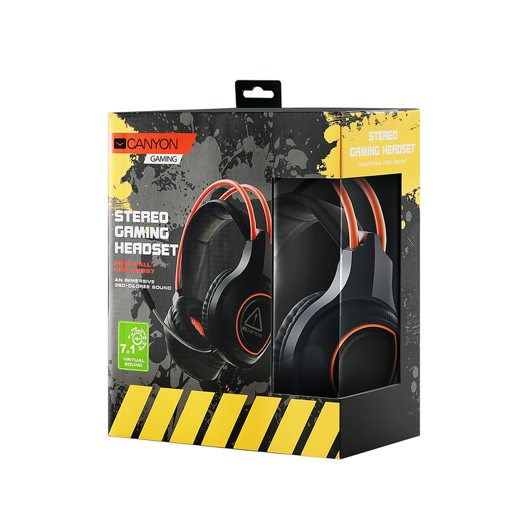 CASQUE MICRO GAMING SG-HS7 NOIR / ORANGE USB cnd-sghs75