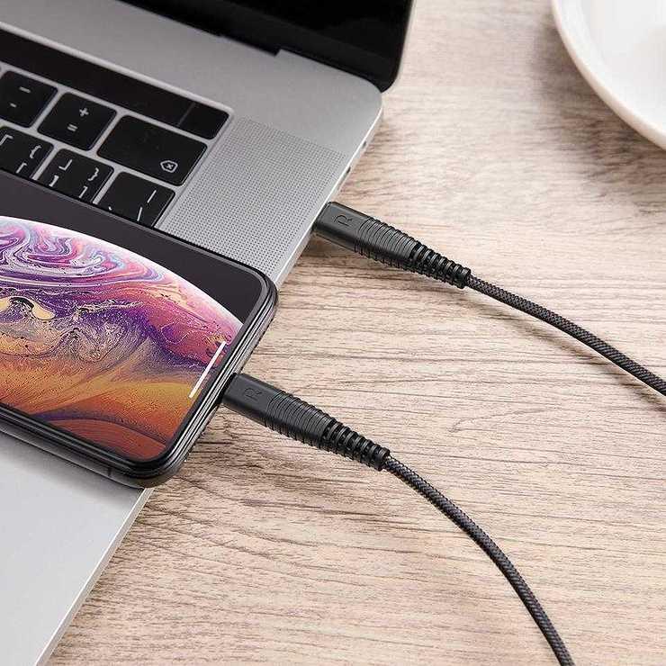 CORDON CHARGE RAPIDE USB TYPE C / LIGHTNING 1M rpcb0202