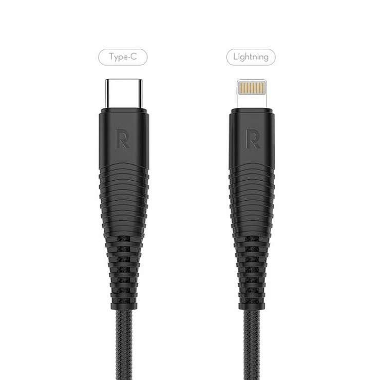 CORDON CHARGE RAPIDE USB TYPE C / LIGHTNING 1M 0