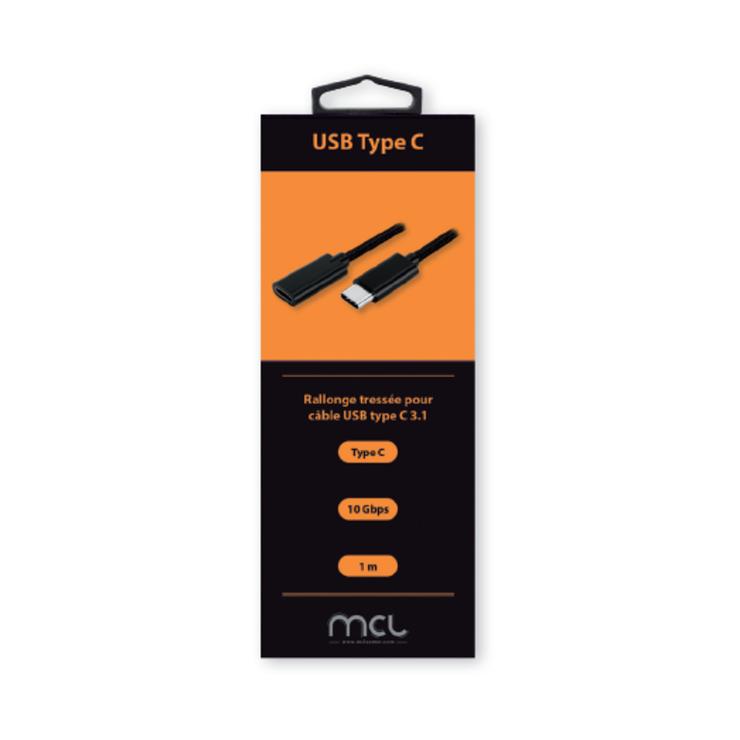 RALLONGE USB TYPE C MALE / FEMELLE 1M BLISTER mc9231camfz1m-2