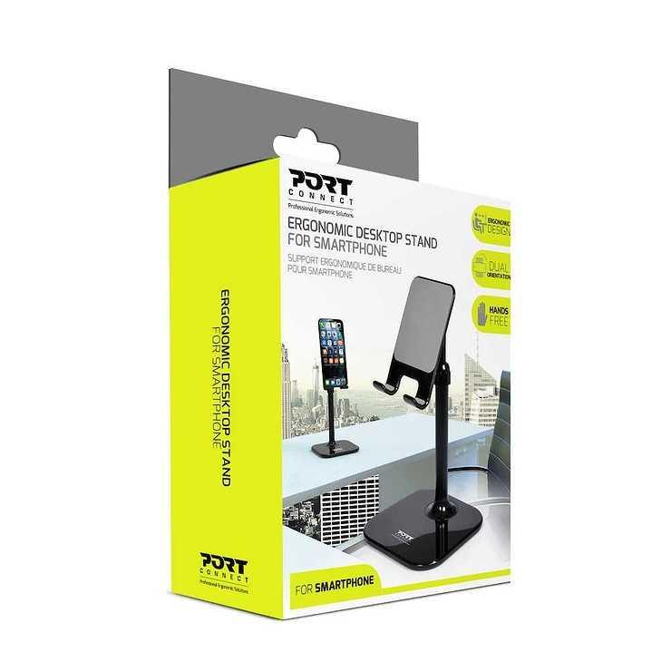 SUPPORT POUR SMARTPHONE ERGONOMIQUE 901106-port-ergonomicsmartphonestand-pack3d