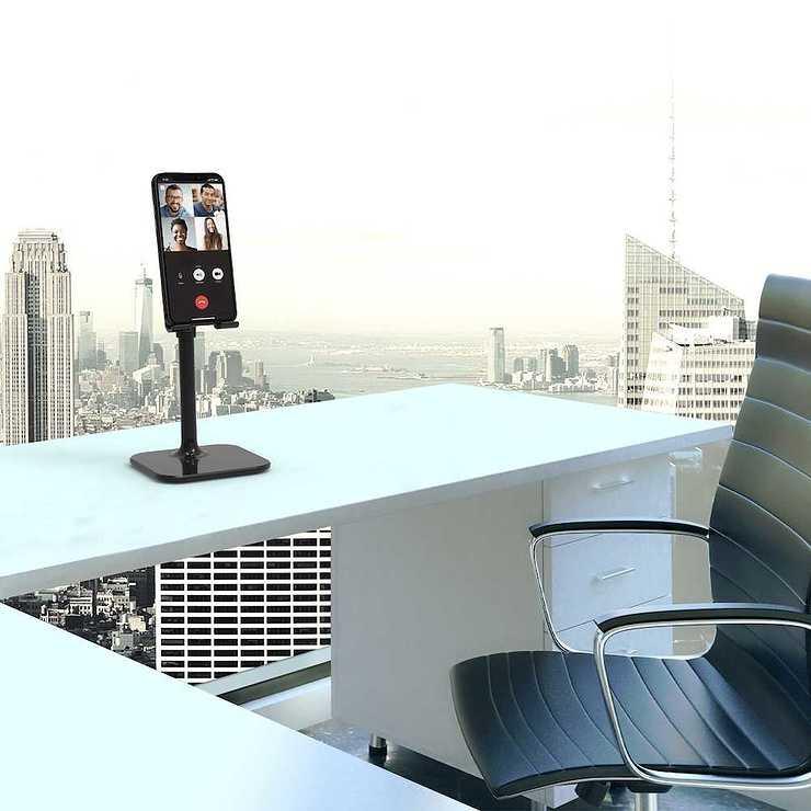 SUPPORT POUR SMARTPHONE ERGONOMIQUE 901106-port-ergonomicsmartphonestand-visuelinsituavecfondmanhattan