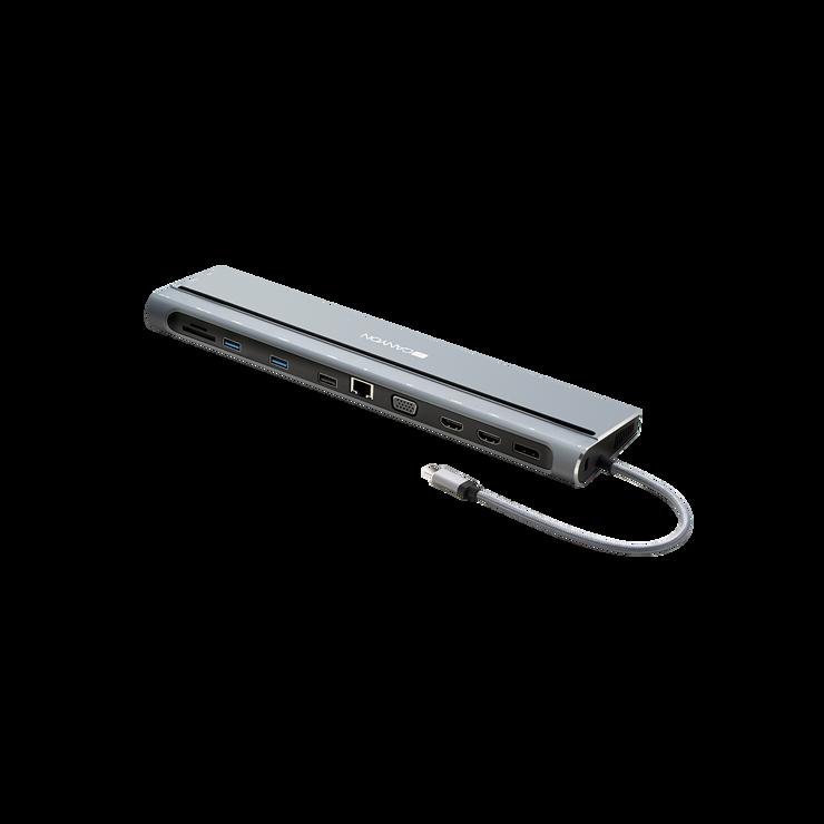 LOT DE 2 STATIONS D''ACCUEIL DS-09 MULTIPORT USB TYPE C 14-EN-1 cns-hds09b1