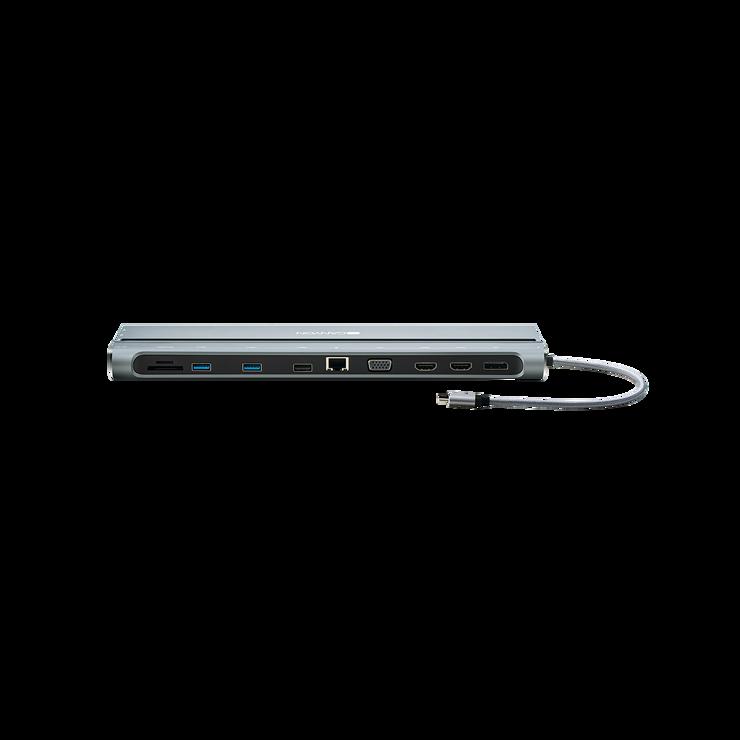 LOT DE 2 STATIONS D''ACCUEIL DS-09 MULTIPORT USB TYPE C 14-EN-1 cns-hds09b3