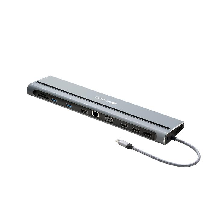 LOT DE 2 STATIONS D''ACCUEIL DS-09 MULTIPORT USB TYPE C 14-EN-1 0