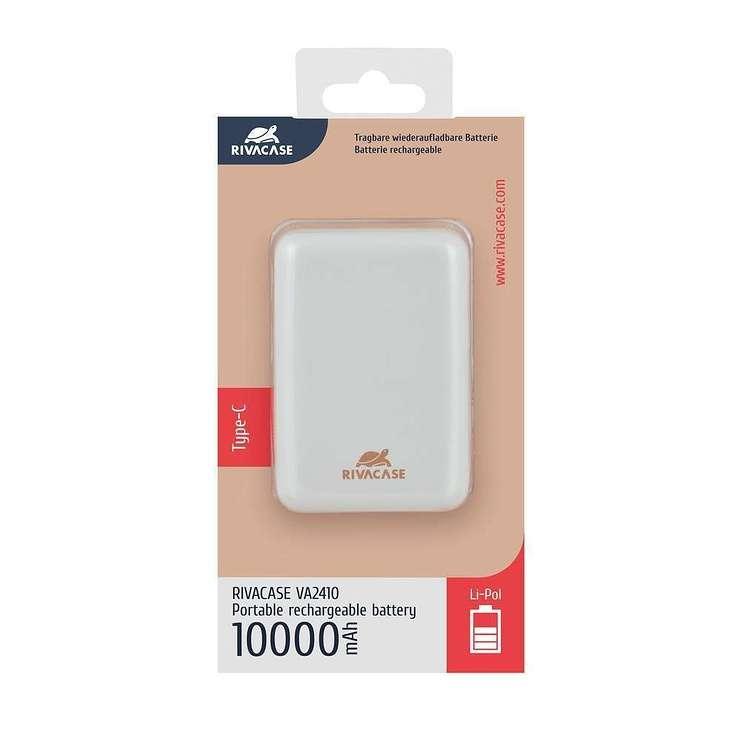 LOT DE 12 CHARGEURS RIVAPOWER 10000 MAH 2.1A MICRO USB+ TYPE C BLANC va2410en.4260403576397.ver11
