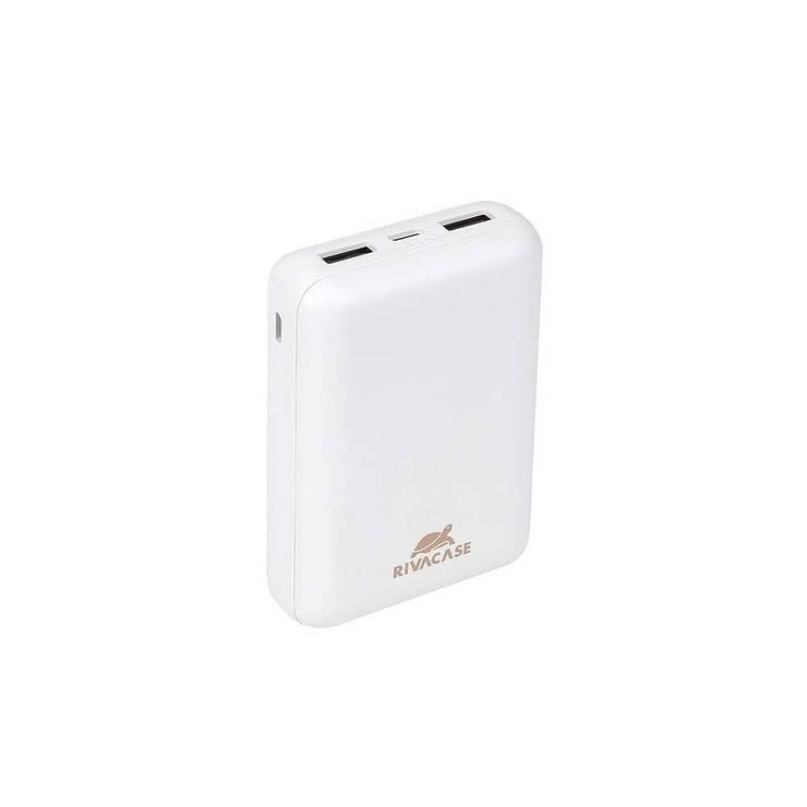 LOT DE 12 CHARGEURS RIVAPOWER 10000 MAH 2.1A MICRO USB+ TYPE C BLANC va2410white.42604035763804260403576397.ver03
