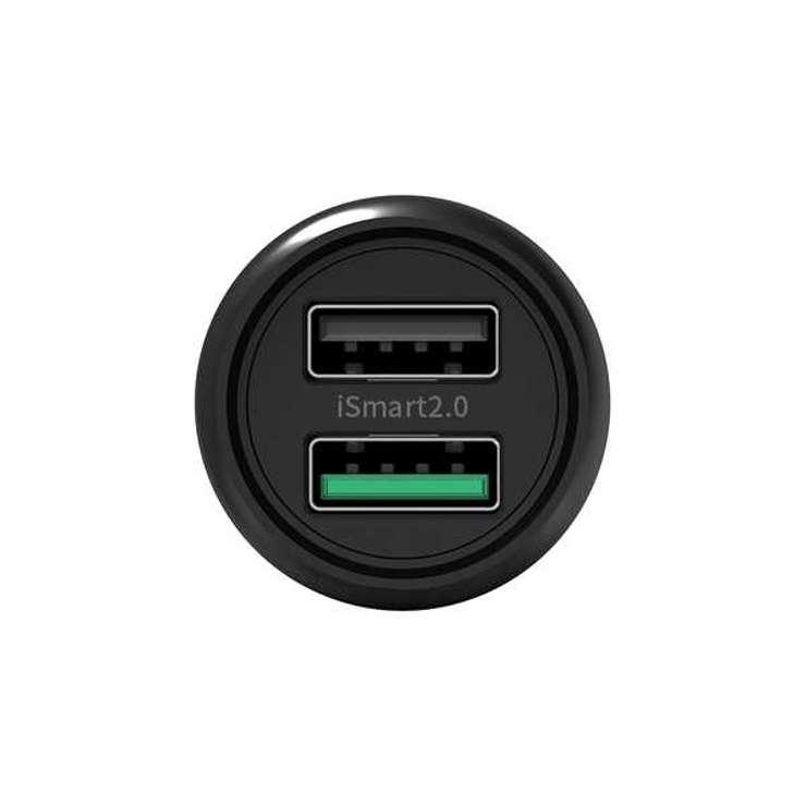 CHARGEUR ALLUME CIGARE USB 30W QC3.0 2 PORTS rppc0885