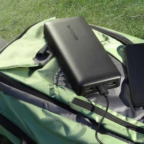 LOT DE 5 CHARGEURS PORTABLE 32000 MAH 3 X USB 6A rppb0642