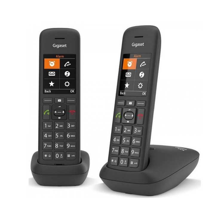 TELEPHONE C575 DUO SANS FIL - NOIR gsc575duonoir5