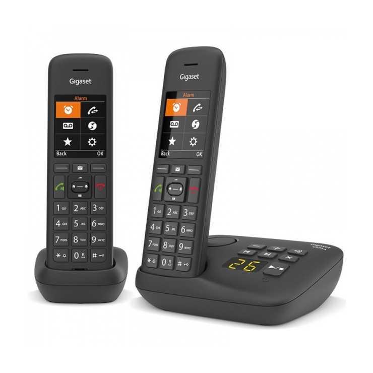 TELEPHONE C575 DUO SANS FIL AVEC REPONDEUR- NOIR gsc575aduonoir3