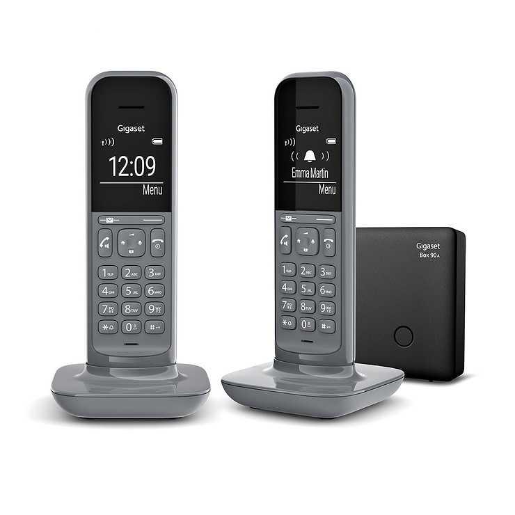 TELEPHONE CL390 DUO SANS FIL AVEC REPONDEUR- GRIS 0