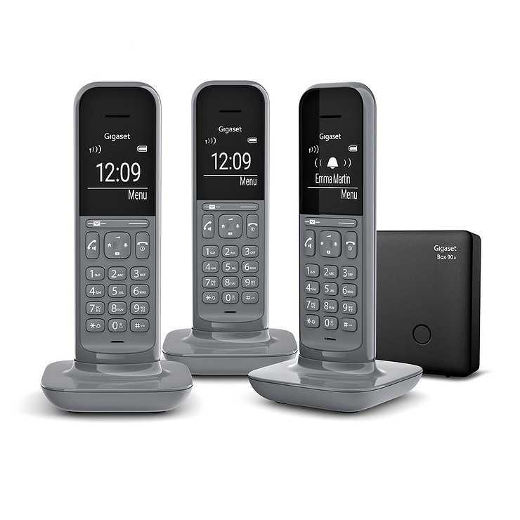 TELEPHONE CL390 TRIO SANS FIL AVEC REPONDEUR- GRIS 0