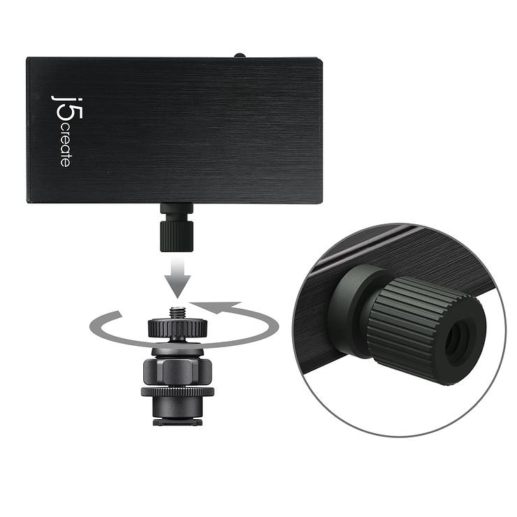 ADAPTATEUR DE CAPTURE STREAMING HDMI VERS USB-C + ALIMENTATION jva02-8-12400x