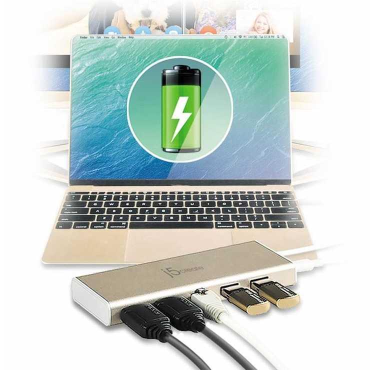 STATION D''ACCUEIL USB-C / HDMI/RJ45/ USB 3.1 HUB /PD 2.0 jcd3811a936bf4d-b835-4cea-b13c-7dda9a84f808720x