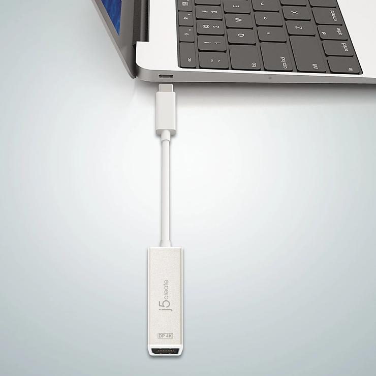 ADAPTATEUR DISPLAY USB TYPE-C VERS DISPLAYPORT 4K jca140-7-32400x
