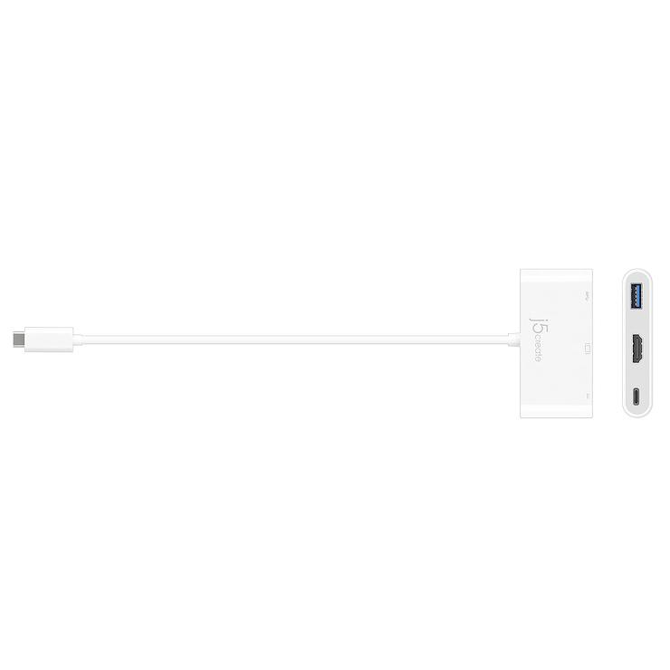 ADAPTATEUR DISPLAY USB TYPE-C VERS HDMI/ USB 3.0 + ALIM jca379-42400x