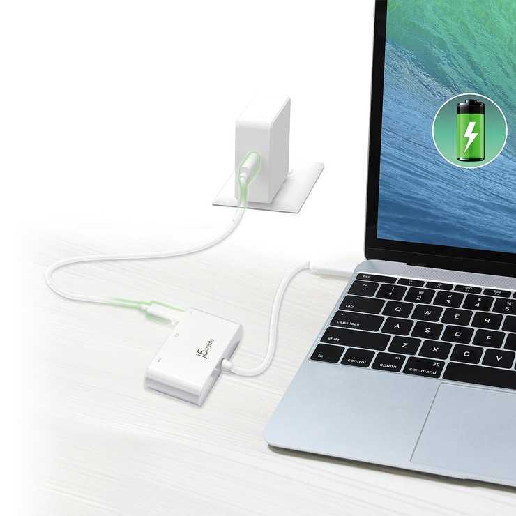ADAPTATEUR DISPLAY USB TYPE-C VERS HDMI/ USB 3.0 + ALIM jca379-7-22400x