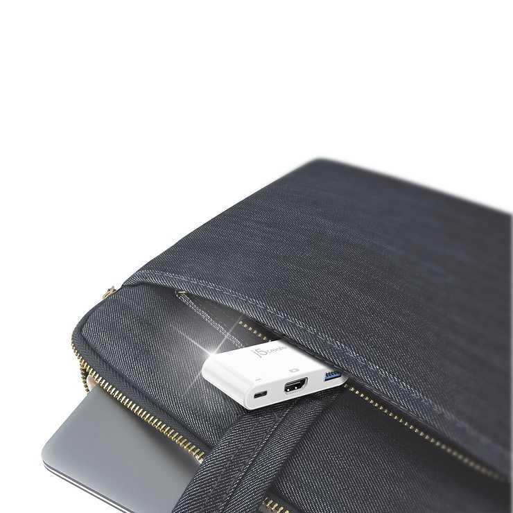 ADAPTATEUR DISPLAY USB TYPE-C VERS HDMI/ USB 3.0 + ALIM jca379-7-32400x