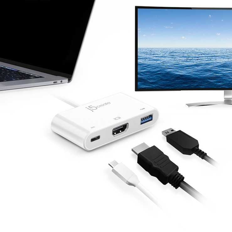 ADAPTATEUR DISPLAY USB TYPE-C VERS HDMI/ USB 3.0 + ALIM jca379-7-82400x