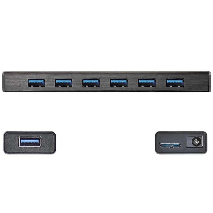 HUB USB 3.0 7 PORTS juh377-port2400x