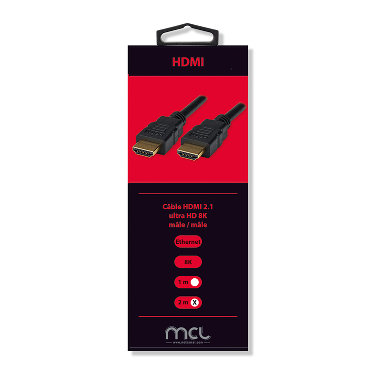 CORDON HDMI 2.1 ULTRA HD HV 8K 2M BLISTER mc388z2m3