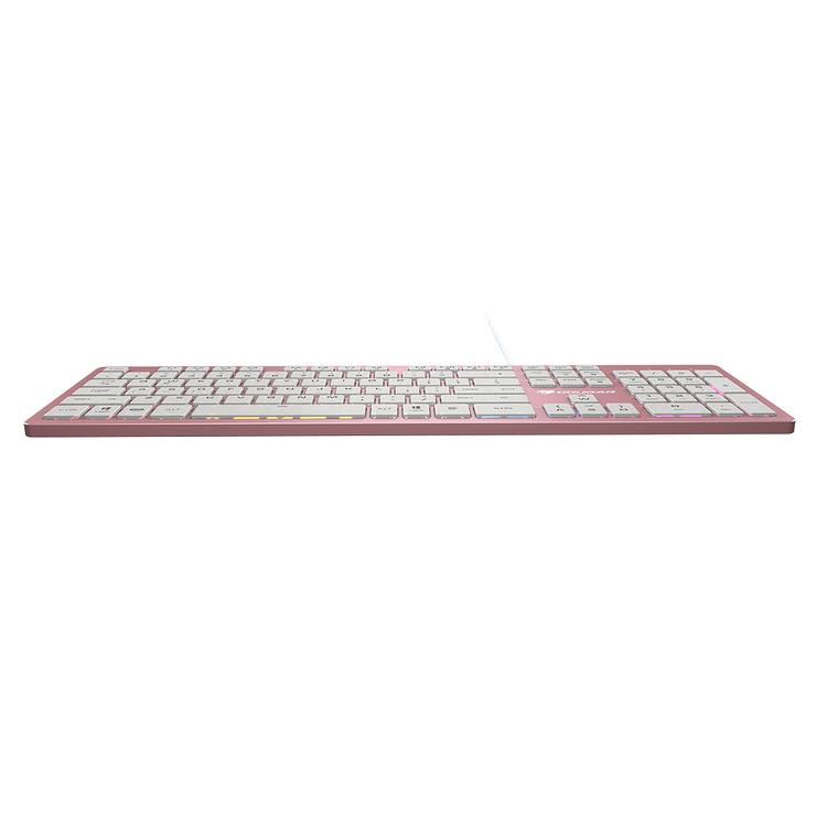 CLAVIER GAMING VANTARAX MEMBRANE RGB ALUMINIUM ROSE vantaraxpink7