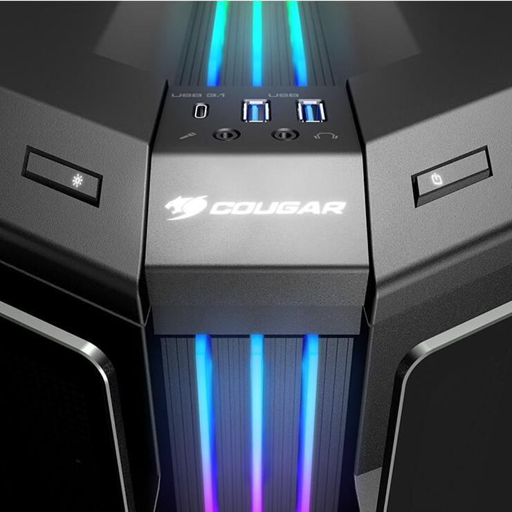 BOITIER PC GAMING GEMINI T PRO RGB VERRE TREMPE geminitpro7