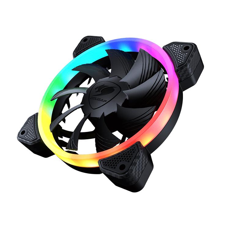 KIT DE 3 VENTILATEURS GAMING VORTEX VK120 RGB vk1204