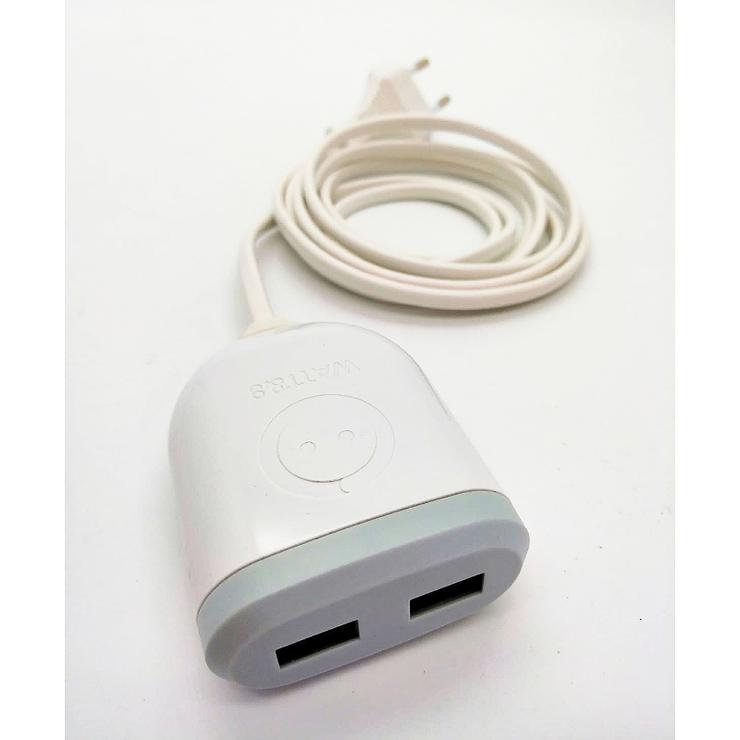 CHARGEUR USB 2 PORTS USB AVEC CORDON SECTEUR 3M 0